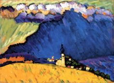 The Kandinsky's painting Winter Landscape is one of the works in which the individualities of the artist, being the founder of abstract art, are shown in the full extent. Wassily Kandinsky, Henri Matisse, Art Abstrait, Art Moderne, Art Plastique, Monet, Love Art, Impressionism, Abstract Landscape