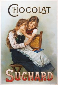 Original Vintage 1900s French Poster Suchard Chocolates Charming Children Lovely   eBay