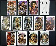 Fotos do baralho promocional tematizado com os personagens do filme Os Cavaleiros do Zodíaco: A Lenda do Santuário lançado no Japão!