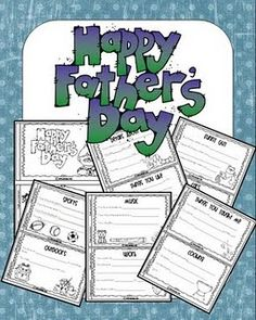 Father's Day book ==> may use it with my own kids or as a last week of school activity in preschool to take home for Father's Day