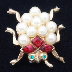 Bug Pin Vintage Crown Trifari pat pend 1952 by Alfred Philippe