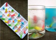 #party idea - worms in ice.  for the  #adult.... add some #vodka!  www.pinterest.com/taddhh/party-ideas