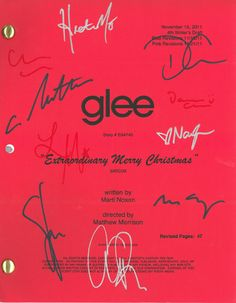Give Your GLEE Fan a Signed Script from the Extraordinary Merry Chr...