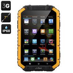 M-Fox JPad IP68 Android Tablet - 7 inch 1280x800 Screen, MTK6589 Quad Core CPU, 1GB RAM, Dual SIM, 3G, Android OS