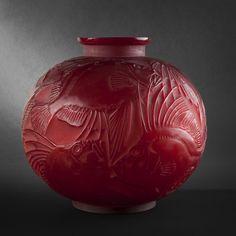 Image detail for -René LALIQUE. Vase Poissons - Arts Décoratifs du XXe siècle
