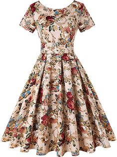 Cocktail dress vintage - ROOSEY Womens Retro Vintage Cocktail Dress Style Rockabilly Swing Party Dresses for Women Pattern 3 XLarge Click image for more details (This is an affiliate link) fashiondresses Retro Vintage Dresses, Vintage Inspired Dresses, Retro Dress, Vintage Floral, Vintage Clothing, Vintage Style, Party Dresses For Women, Cute Dresses, Beautiful Dresses