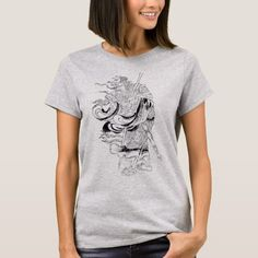 29c41cfa6d74 Saturn Asia Outline Art Women T-Shirt Outline Art, Cool Shirts, Female Art