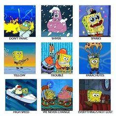 Parachutes and Spongebob
