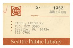 Library Card  Library Cards    Library Cards And