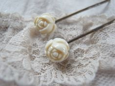handmade   accessory   crafts   vintage  hairpin  Bobby Pin  rose