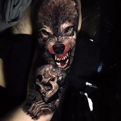 Wolf tattoo ideas are a representation of the need to trust our hearts & minds. Here is a collection of some of the best wolf tattoos which are really cool. Tattoos Lobo, Wolf Tattoos Men, Badass Tattoos, Viking Tattoos, Tattoos For Guys, Wolf Tattoo Forearm, Wolf Tattoo Sleeve, Sleeve Tattoos, Tattoo Wolf