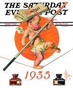 Baby New Year Balances the Budget J.C. Leyendecker January 5, 1935