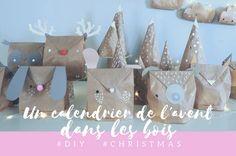 Un calendrier de l'avent dans les bois. #DIY #christmas