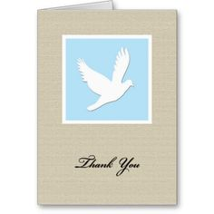 Dove Sympathy Thank You Card