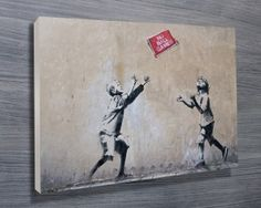 Banksy - No Ball Games Archival Canvas Print Mdf Frame, Canvas Frame, Canvas Wall Art, Wall Art Prints, Framed Prints, Street Art Banksy, Banksy Art, Graffiti, Bansky
