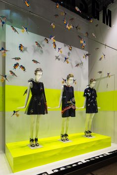 """La Rinascente, Milan, Italy, """"They dance......to the singing of birds"""", by MSGM, pinned by Ton van der Veer"""