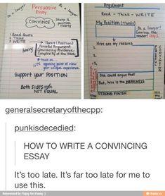 How to write a convincing essay school hacks como estudiar, Essay Writing Skills, Book Writing Tips, English Writing Skills, Writing Words, Writing Prompts, Writing Help, Essay Writer, College Life Hacks, Life Hacks For School