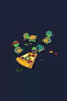 SI SIGO COMIENDO PIZZA ME VOY A TRANSFORMAR EN TORTUGA NINJA... :3