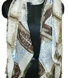 Buy DIVERSITY VISCOSE BROWN SCARF scarf online