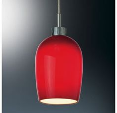 Price: $213.47 Bruck Lighting 220321 Down Pendant with Red Glass Shade for use with Standard or Globe-covered Bi-Pin Lights from the Queeny I Collection