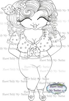 INSTANT DOWMLOAD Digital Digi Stamps Big Eye Big by SherriBaldy