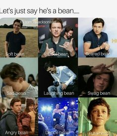Tom Holland♥️ but isn't Corbyn Besson the real bean tho Funny Marvel Memes, Dc Memes, Marvel Jokes, Funny Memes, Marvel Actors, Marvel Dc, Shane Mendes, Tom Holland Imagines, Tom Holand