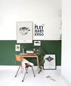 Green is associated with nature and therefore creates a serene and calm environment for children. It can even increase reading ability according to some psychological studies as it has a soothing effect and therefore enables children to concentrate better. This crisp green and white boysroom has been designed by Jessica Bouvy, an interior stylist from …