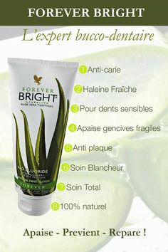 Dentifrice bright by forever Forever Aloe, Forever Living Aloe Vera, Forever Bright Toothgel, Forever Business, Aloe Vera Skin Care, Natural Toothpaste, Heath And Fitness, Flirt, Forever Living Products