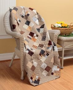 Sometimes the simplest blocks make the best quilts. Cobblestones quilt by Pat Wys, author of Knockout Neutrals.
