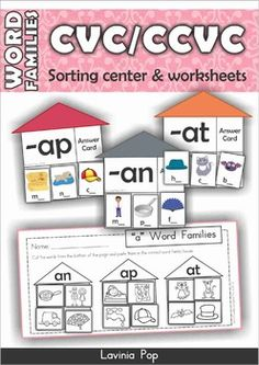 Free - Word Families - CVC & CCVC activities