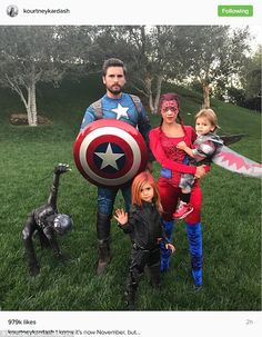 He finally got it together: Scott Disick dressed up with his kids and ex Kourtney Kardashian on Tuesday, which was the day after Halloween