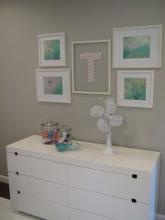 Project Nursery - Kite Themed Gray Girl Nursery Gallery Wall