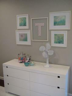 Project Nursery - Kite Themed Gray Girl Nursery Gallery Wall