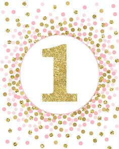 Birthday Party Sign 1 Sign First Birthday Sign Girl Birthday Party Decorations Pink Light Blue/Aqua and Gold Confetti Number 1 Sign Glitter Birthday Parties, 1st Birthday Party Decorations, First Birthday Parties, First Birthdays, First Birthday Sign, Girl Birthday, Pink Invitations, Birthday Invitations, Birthday Numbers