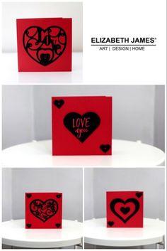 Love Cards Handmade, Paper Hearts, Elizabeth And James, Envelope, Greeting Cards, Shop, Design, Envelopes