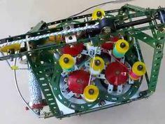 MVI 1023 - Meccano Travelling Braiding Machine Mark 1 - YouTube
