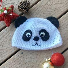 Crochet panda hat Crochet hats Crochet animal hats by BootLegion