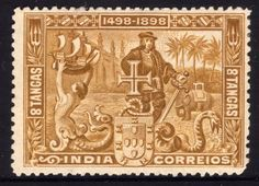 Stamp: Vasco da Gama - Discoverer of the seaway to India (Madeira Islands) anniversary of discovering the seaway to India) Mi:PT-MD 40 Macau, Colonial, History Of Portugal, Timor Oriental, Book Wrap, India Country, Asia, Vintage Stamps, Stamp Collecting