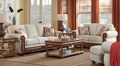 Cindy Crawford Home Key West Cove Beige 7 Pc Living Room