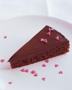 Truffle Brownies - Martha Stewart Recipes #walentynki #valentinesday