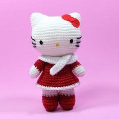 PDF Pattern : Amigurumi Kitty in the Winter. $5.00, via Etsy.