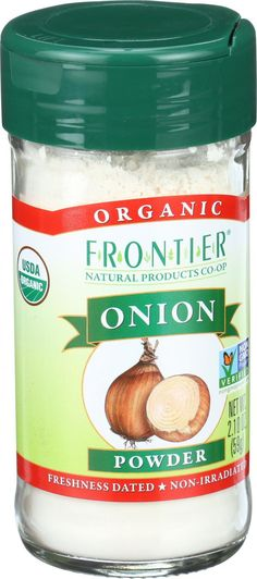 THE MOST IMPORTANT THING IN MY SPICE CABINET!!! Frontier Herb Onion - Powder - Organic - White - 2.10 oz