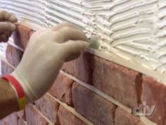 diy brick wall