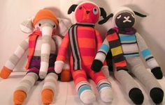 CUSTOM Sock Animals  J'adore les Animaux Collection by 3elizabeths, $35.00