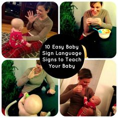 10 Baby Sign Language Signs We Use Most Often - not the direct ASL translations, but easy for baby Noah to reciprocate. Sign Language Basics, Simple Sign Language, Baby Sign Language, Libra, Learn Asl Online, Sign Language Interpreter, Little Doll, Baby Time, Baby Play