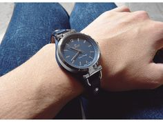Watch G. Rossi - silver/navy blue 3652A