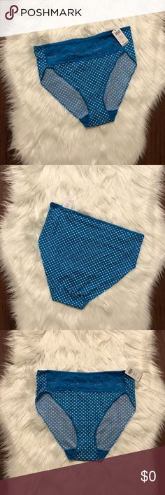 SOMA Vanishing Edge High Lace Leg Brief  Size L Vanishing Edge Microfiber with Lace High Leg Briefs in Blue Sea with white polka dots. New with tags..   📌Coordinating: Memorable Full Coverage Lace Trim Bra available in another listing   👗NWT 👠Size Large  ✨Smoke Free/Pet Free Home  💄NO Trades   Reasonable offers are welcome! Notify me with any questions. Feel free to bundle! Thanks for shopping my closet Soma Intimates & Sleepwear Bras