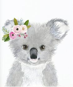Watercolor Koala Nursey Print Australian Animals Nursery - Watercolor Koala Nursey Print Australian Animals Nursery Koala Nursery Art Decor Cute Koala Animal Wall Art Childrens Wall Decor More Information Find This Pin And More On For My Classroom By Jo # Koala Nursery, Animal Nursery, Nursery Art, Baby Koala, Baby Otters, Baby Animal Drawings, Cute Drawings, Watercolor Animals, Watercolor Paintings
