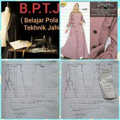 Long Dress Patterns, Dress Sewing Patterns, Sewing Patterns Free, Clothing Patterns, Free Pattern, Niqab Fashion, Fashion Dresses, Abaya Pattern, African Print Fashion