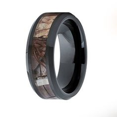 Black Tungsten Camo Ring